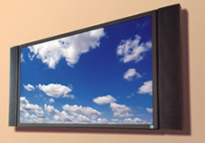 Wall mounted LCD television